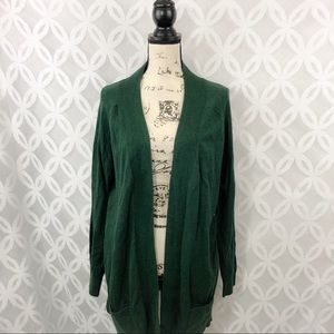 Kersh Open Shawl Cardigan Sweater with Pockets